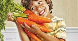 لزوم سبزیجات برای کودکان